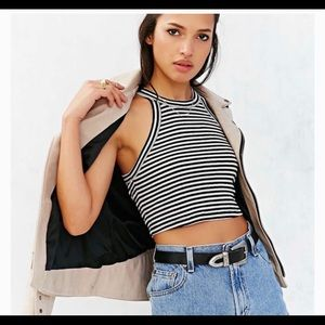 OU   Truly Madly Deeply   Striped Crop Top